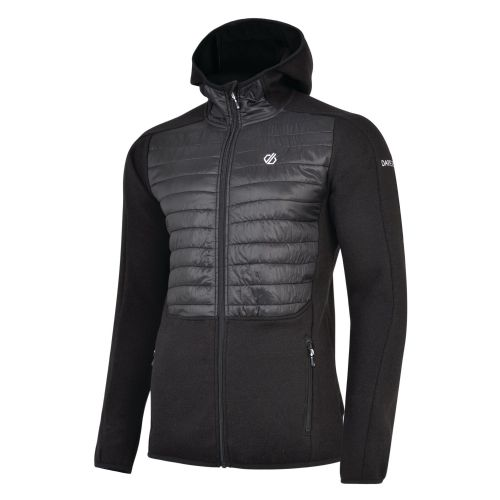 Men's Galore Hybrid Full Zip Hooded Midlayer - Black Black